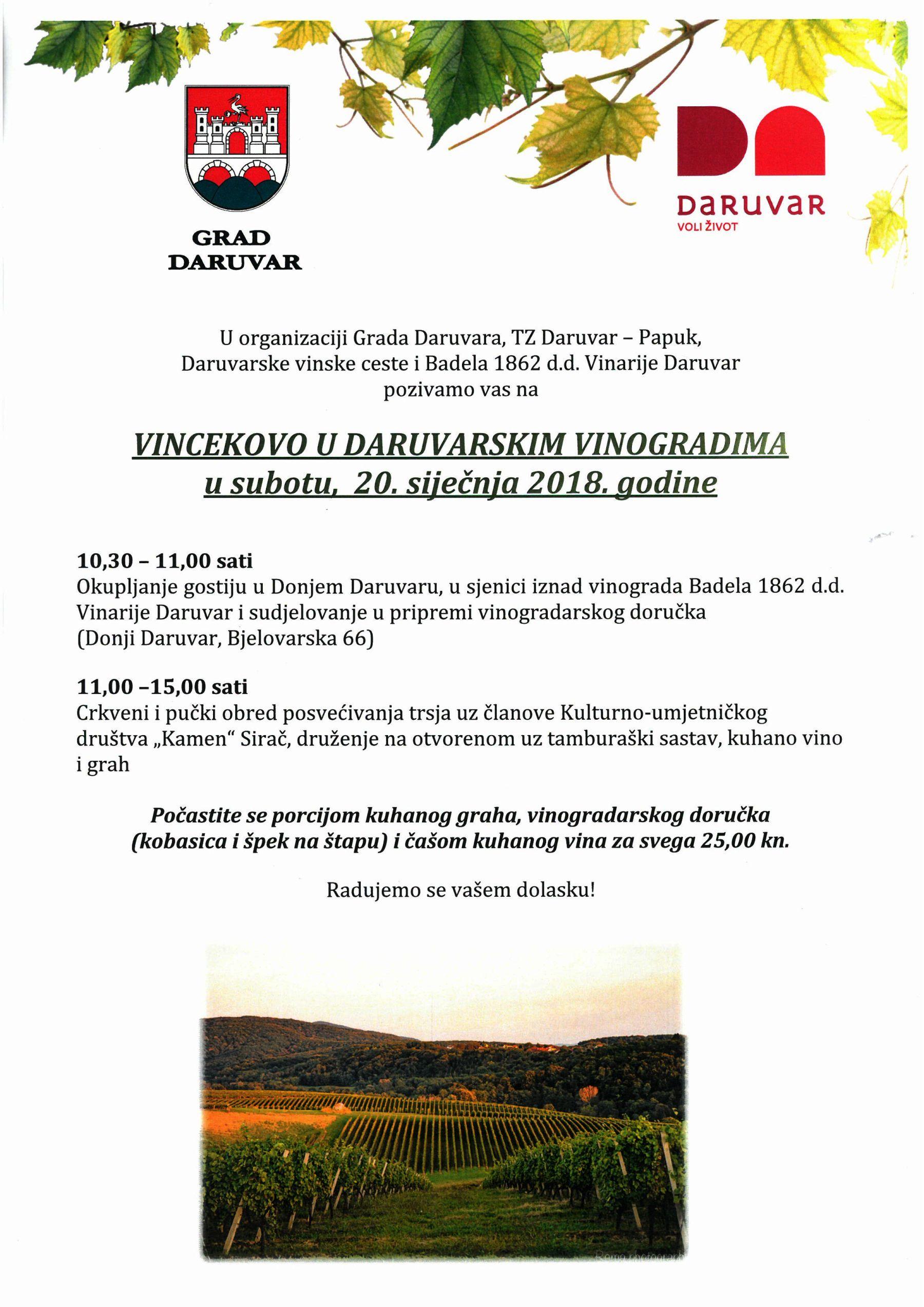 Vincekovo u vinogradima 2018