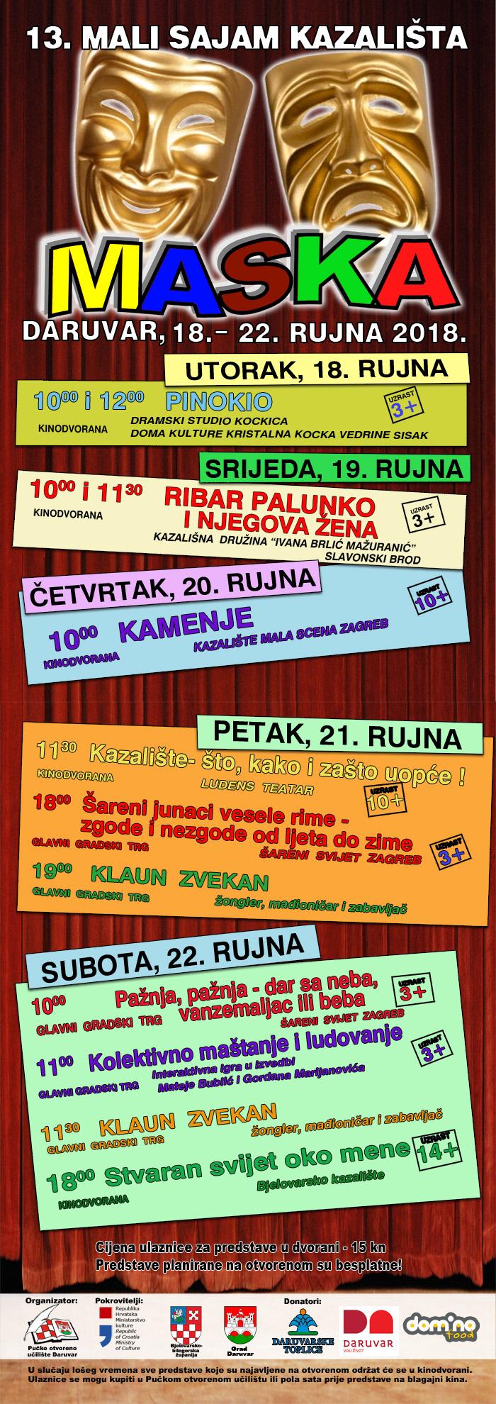 13. MASKA-plakat s programom